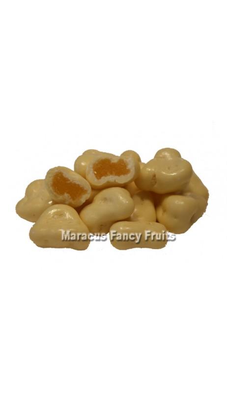 Ananas Stücke in feinster weißer Schokolade