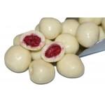 Himbeeren gefriergetrocknet in feiner Joghurt Schokolade