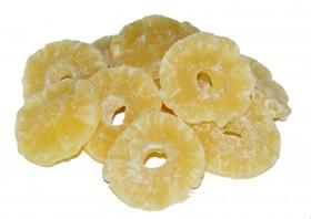 Ananasringe ungeschwefelt, gezuckert