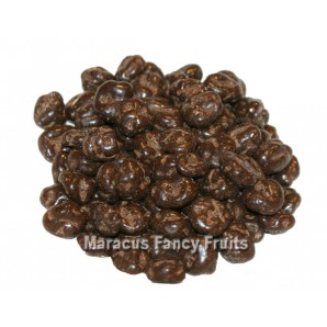 Weinbeeren in Zartbitterschokolade