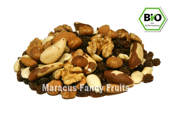 BIO Studenten Futter (Nüsse und Trockenfrüchte) günstig bei maracus.com online kaufen.