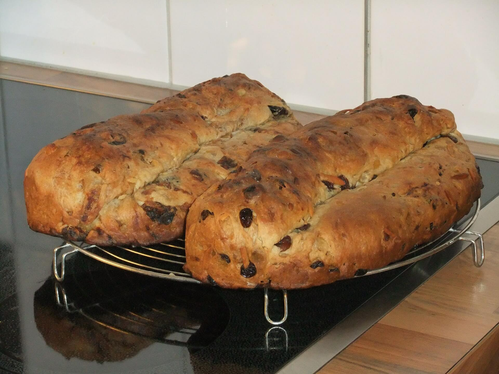 Stollen nach dem Backen